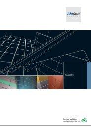 Aluminium Kassette - Aluform System GmbH & Co. KG