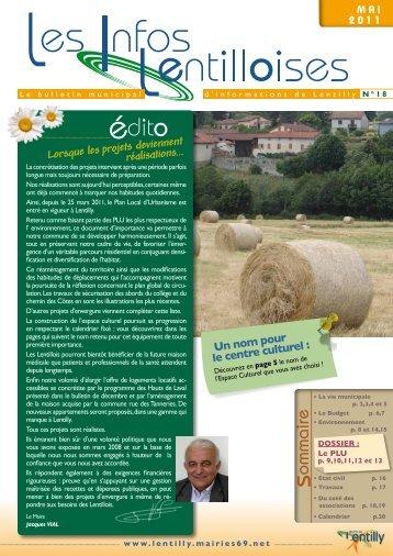 Les Infos Lentilloises n°18 - Lentilly