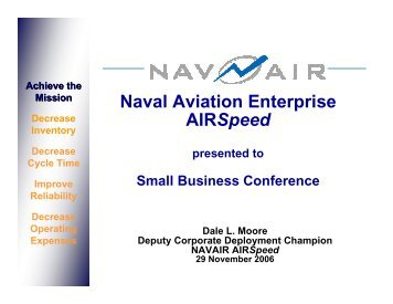 Naval Aviation Enterprise AIRSpeed - NAVAIR