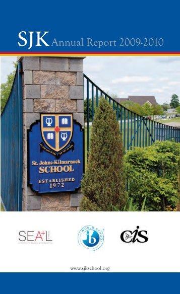 2009-2010 SJK Annual Report - St. John's-Kilmarnock School