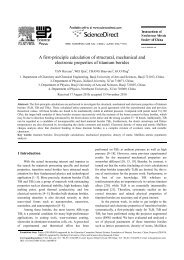A first-principle calculation of structural ... - 西安电子科技大学