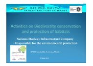 Railway Activities on Biodiversity conservation - The 12th UIC ...