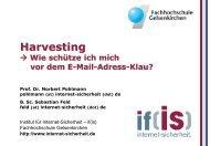 Harvesting - Wie schütze ich mich vor dem E-Mail-Adress-Klau?