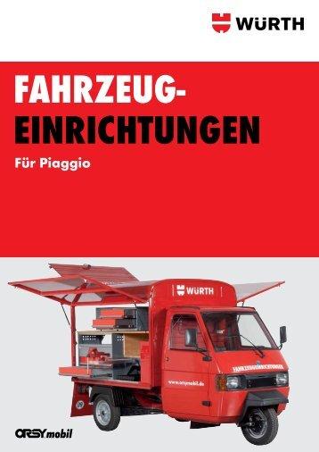 Fahrzeugeinrichtungen für Piaggio - Würth