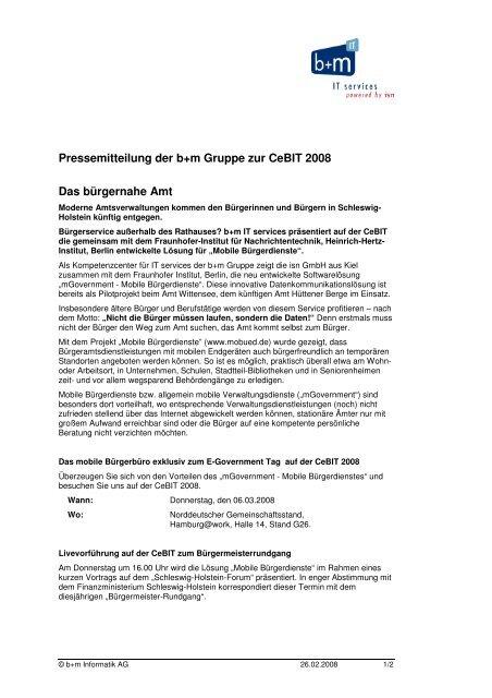 Presseinformation zum mobilen Bürgerbüro - L & M Business IT ...