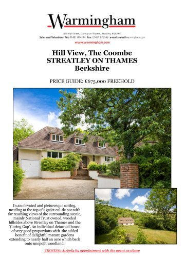 Hill View, The Coombe STREATLEY ON THAMES ... - Warmingham