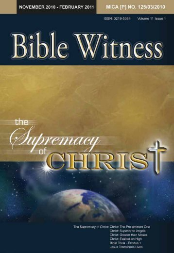 The Supremacy Of Christ - Bible Witness
