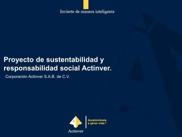 Responsabilidad Social - Actinver