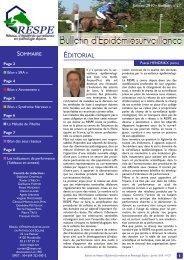 Bulletin RESPE n°27 - Janvier 2010