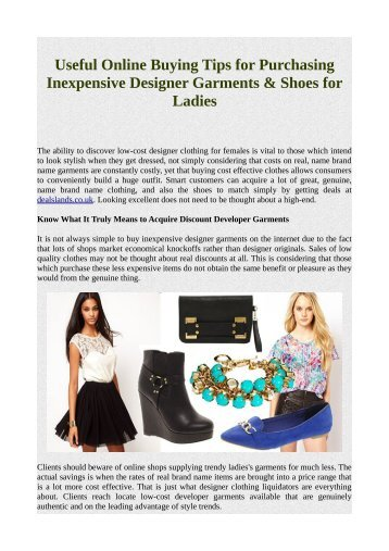 Useful Online Buying Tips for Purchasing Inexpensive Designer Garments & Shoes for Ladies.pdf