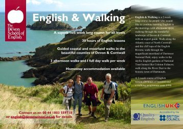 English & Walking - The Devon School of English