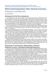 Höhepunkte von der BioEM 2009 - EZU