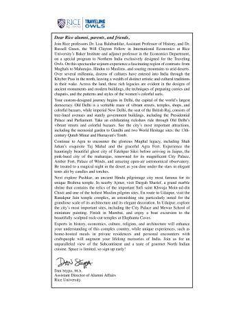 Incredible India - Association of Rice Alumni - Rice University