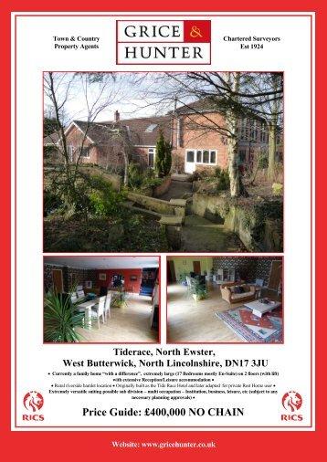 Price Guide: £400000 NO CHAIN Tiderace, North ... - Grice & Hunter