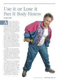 Use It or Lose It: Part II Body Fitness - Assisted Living Consult