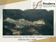 The Black Smokers and the Geology of the Wetar Copper Deposits