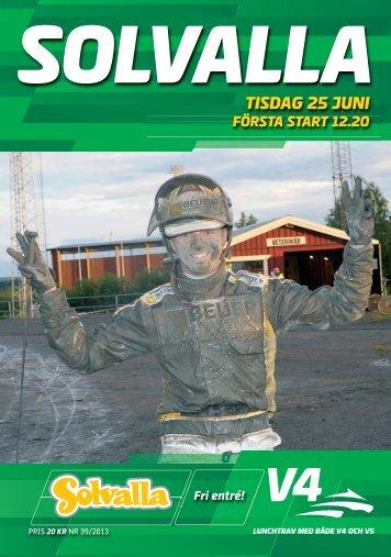 TISDAG 25 JUNI - Solvalla
