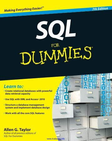 SQL for Dummies 7th Edition
