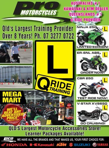 we have all the brands and that makes us, your ... - Pro Motorcycles
