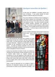 Quelques nouvelles du Québec 2013-2