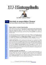 Kurzinfo zu ausgewählten Themen - Andreas Mölzer