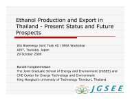 Ethanol Production and Export in Thailand - IEA Bioenergy Task 40