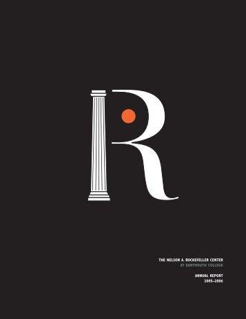 2005-2006 Annual Report - Rockefeller Center - Dartmouth College