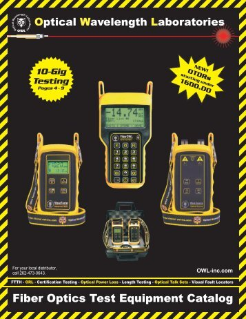 Fiber Optics Test Equipment Catalog