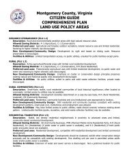 What is a Land Use Policy area in the Montgomery County 2025 ...