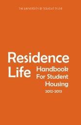 Housing Handbook - The University of Texas at Tyler