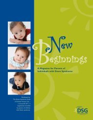 New Beginnings Parent Magazine - Down Syndrome Guild of ...