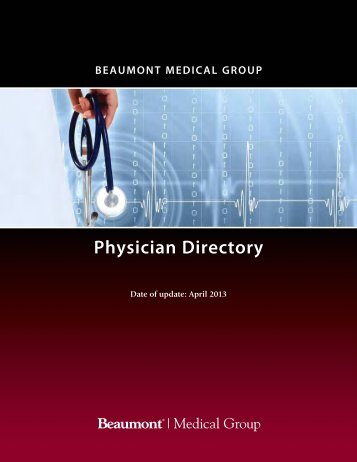 Physician Directory - Beaumont physicians