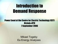 Introduction to demand response - Ea Energianalyse