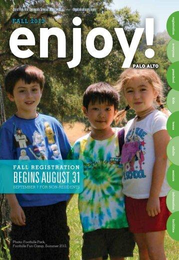 regiSTraTioN - Enjoy Online - City of Palo Alto