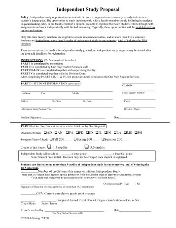 INDEPENDENT STUDY AUTHORIZATION FORM