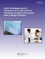 Malaria Prev. FRENCH - Regional Office for Africa - World Health ...