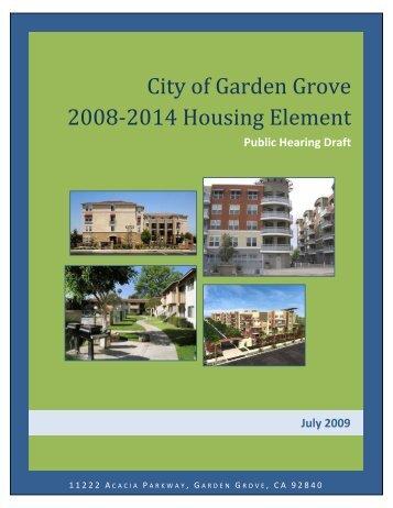 NEW* Draft Housing Element - Garden Grove