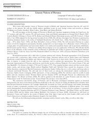 Literary Visions of Florence syllabus SP 13 - umabroad.umn.edu ...