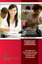 nyack nyc scholars symposium scholarship and ... - Nyack College