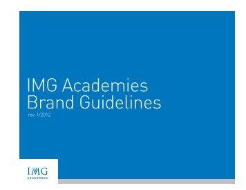 IMG Academies Brand Guidelines - IMG Academy