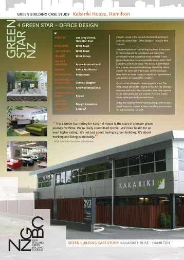 Kakariki House - The New Zealand Green Building Council