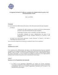 Arrangement instituant la Conférence européenne des ... - Cept