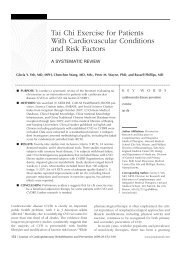 Tai Chi Exercise for Patients With Cardiovascular Conditions and ...
