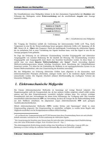1. Elektromechanische Meßgeräte