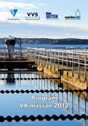 Program VA-mässan 2012 - Svenska Mässan