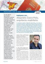 Alejandro Zaera-Polo, arquitecto madrileño - Revista Profesiones