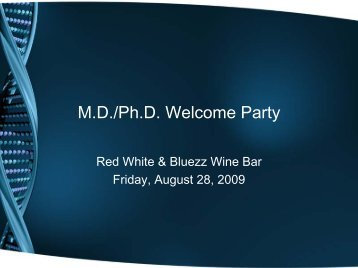 M.D./Ph.D. Welcome Party - Curriculum Home Page