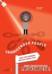 Transgender people and the Gender Recast Directive - ILGA Europe