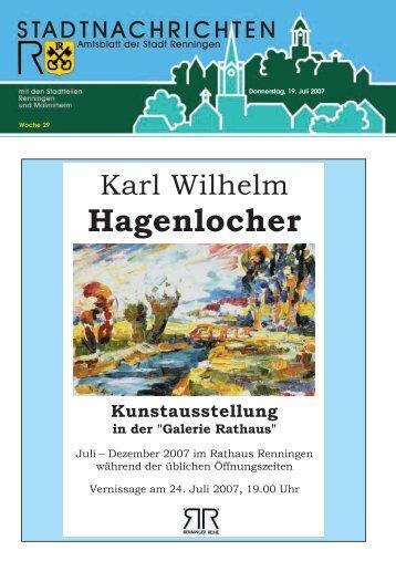 Donnerstag, 19. Juli 2007 Woche 29 - Stadt Renningen