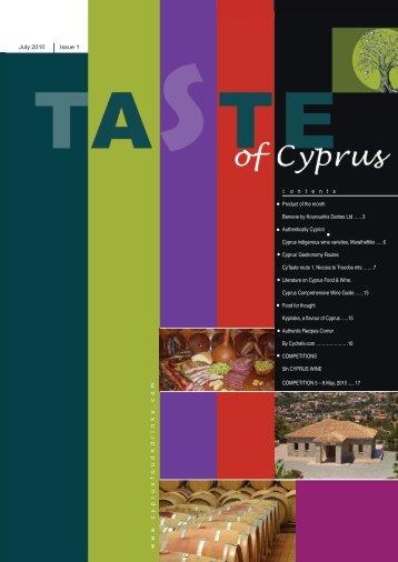 July 2010 Issue 1 www .cyprusfoodndrinks.com c o n t e n t s